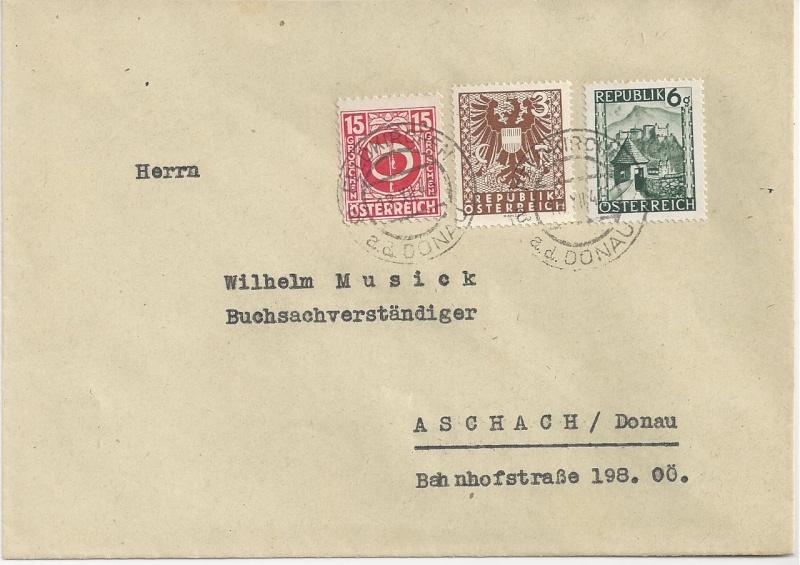 Wappenzeichnung  -  ANK 714-736 - Belege - Seite 2 Bild25
