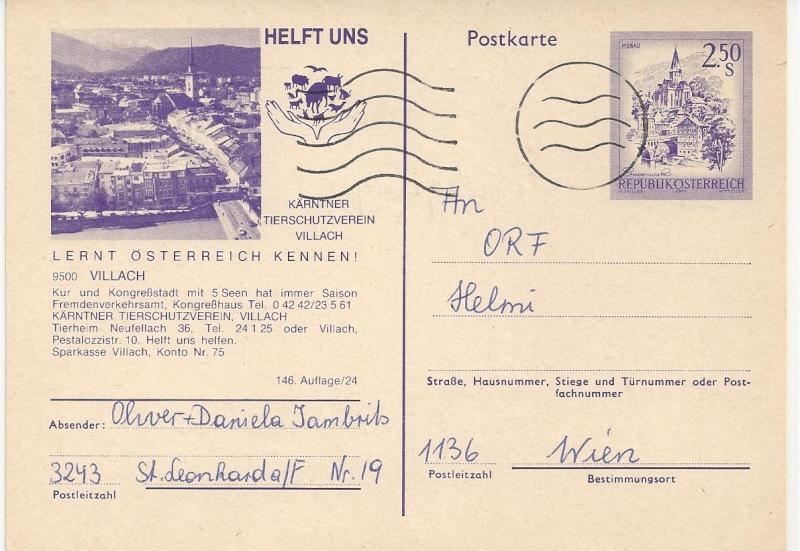 """Wertstempel """"Schönes Österreich"""" - Zudrucke auf Ganzsachen - Seite 2 Bild31"""
