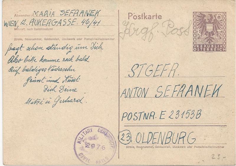 Wappenzeichnung  -  ANK 714-736 - Belege - Seite 2 Bild34