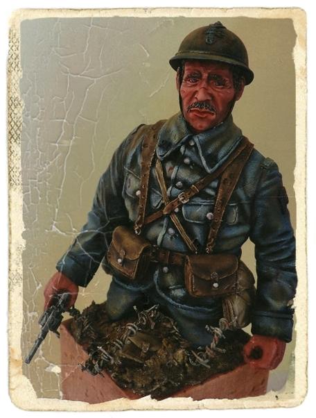 Buste de soldat français WW1 par Gabriel Dscn1015