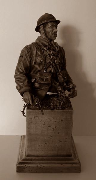 Buste de soldat français WW1 par Gabriel Dscn1019