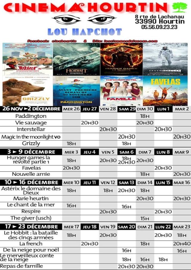 Programmation du Cinema Hourtin Lou Hapchot 10407610