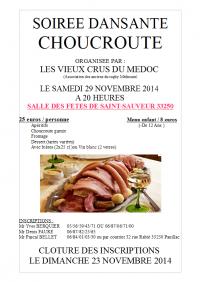 Soirée dansante choucroute le 29 Novembre 2014 à Saint Sauveur 7ac2df10