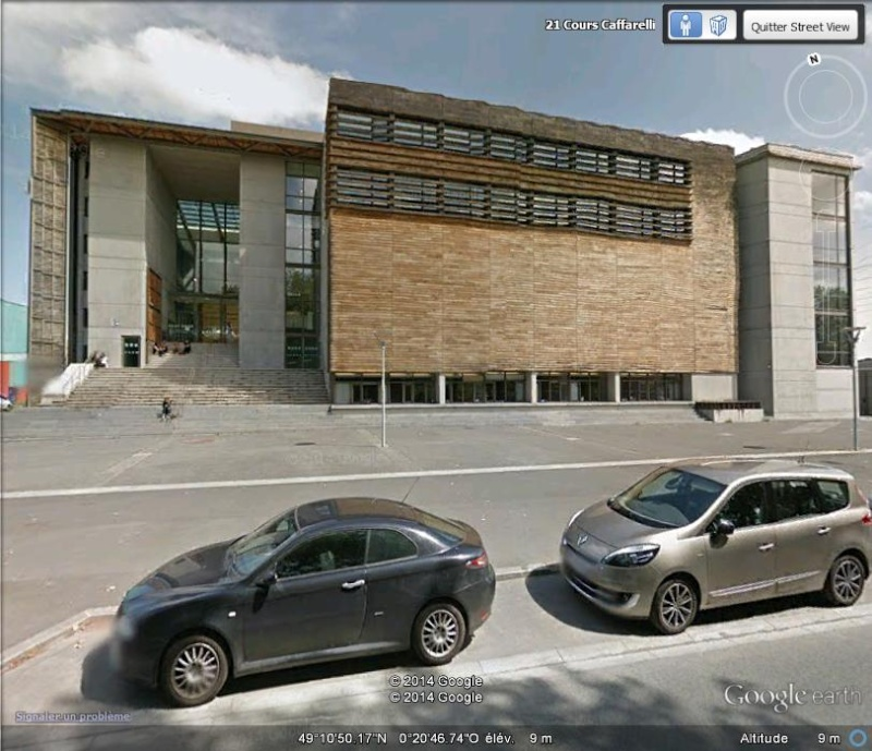 [Désormais visible sur Google Earth] - Grande bibliothèque multimédia de Caen Calvados 11111111