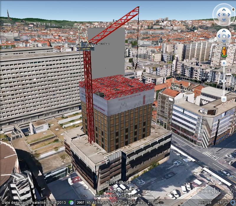 [Enfin visible sur Google Earth] - La future Tour Incity de Lyon La Part-Dieu 3d10