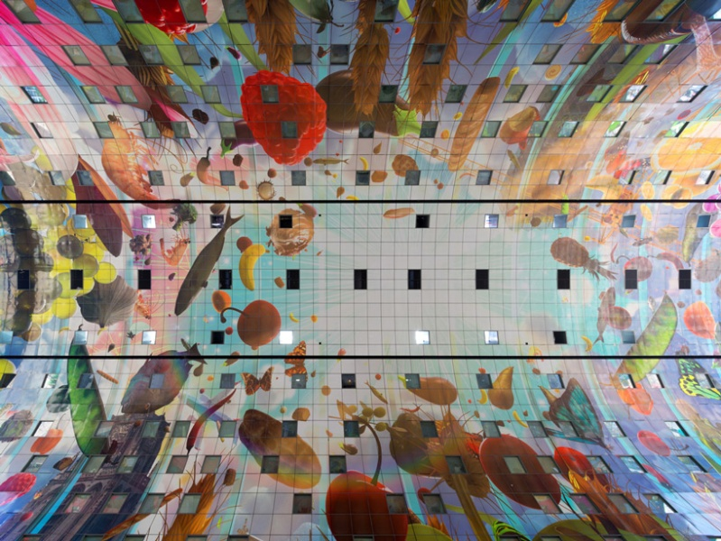 Le Markthal de Rotterdam, la plus grande fresque du monde ? Mvrdv-10
