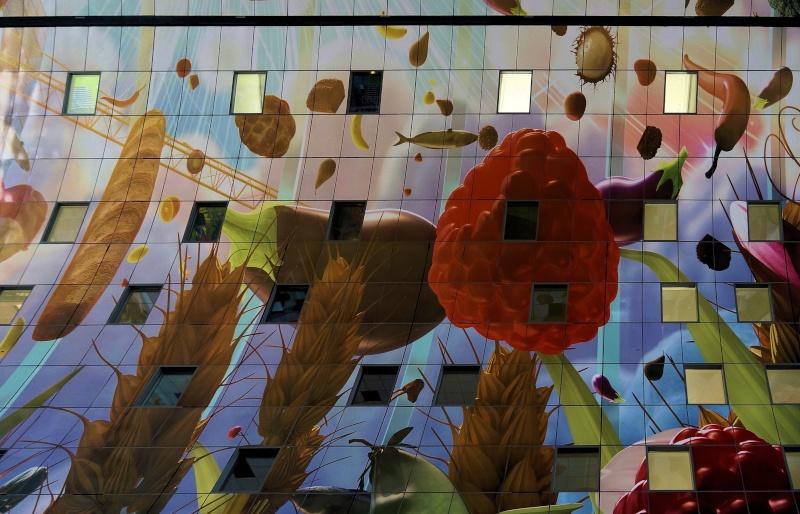 Le Markthal de Rotterdam, la plus grande fresque du monde ? Te_20110