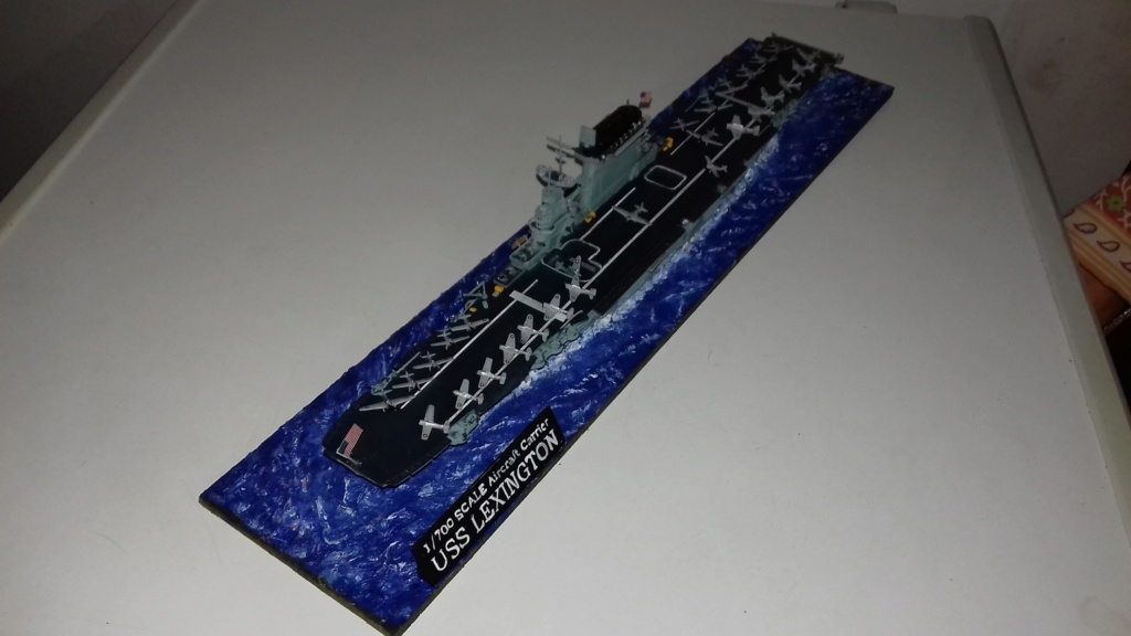PORTE AVIONS USS LEXINGTON 05/1942  TRUMPETER  1/700 20181110