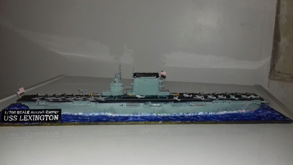 PORTE AVIONS USS LEXINGTON 05/1942  TRUMPETER  1/700 20181111
