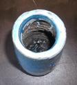 Tall turquoise blue vase Marksp13