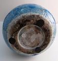 Tall turquoise blue vase Marksp14