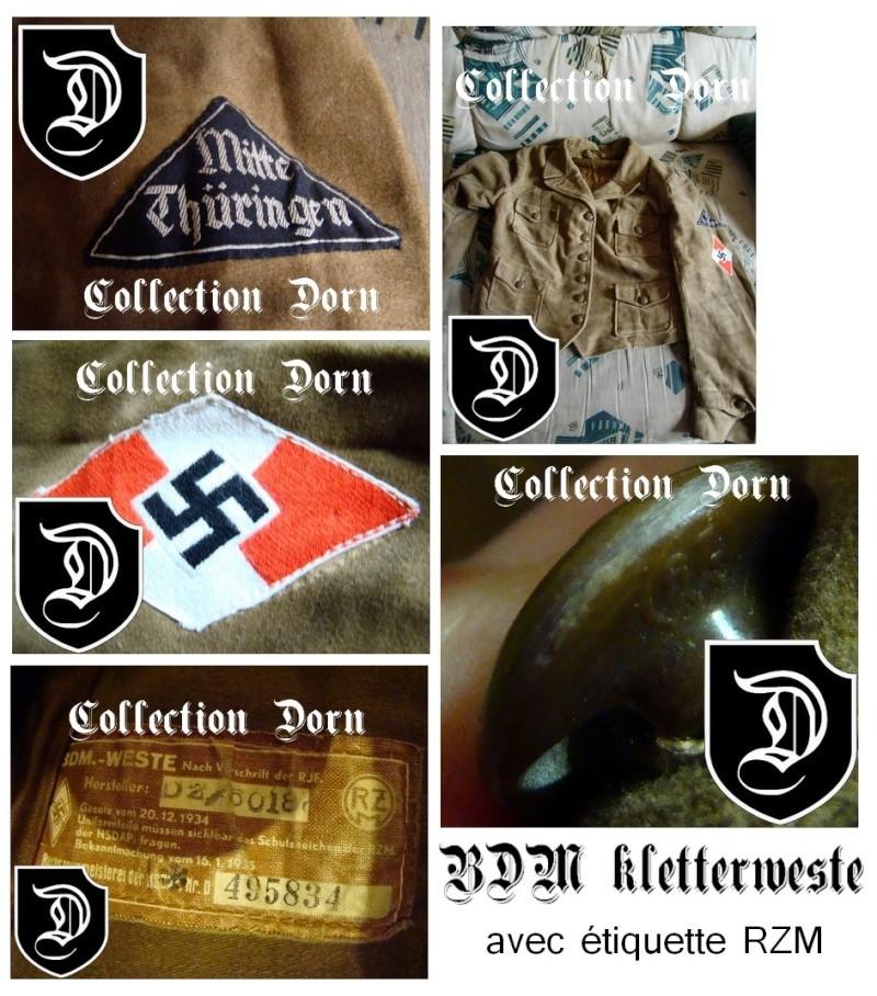 Collection Dorn,en vrac,Hitlerjugend et Bund Deutscher Mädel ... Klette11