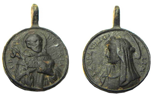 Recopilación medallas de Santo Domingo de Guzmán. Notas iconográficas. Alpaca11