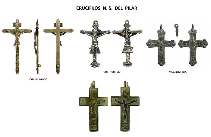 Iconografía de  la VIRGEN DEL  PILAR  en las medallas devocionales Crucif10