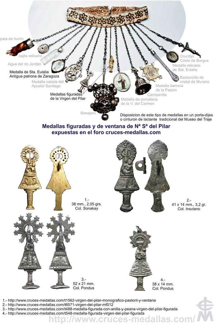 Iconografía de  la VIRGEN DEL  PILAR  en las medallas devocionales Pilar_10