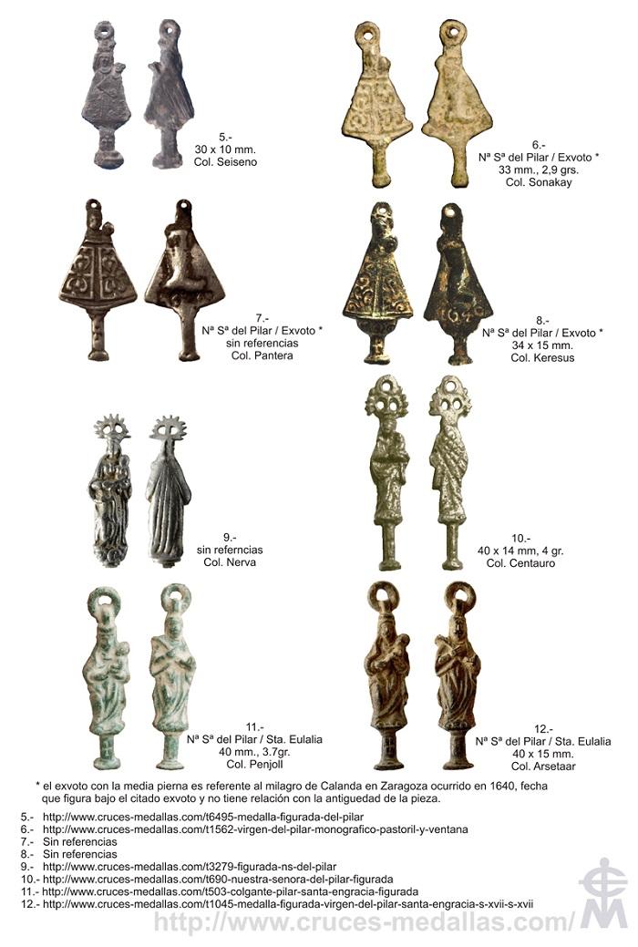 Iconografía de  la VIRGEN DEL  PILAR  en las medallas devocionales Pilar_11