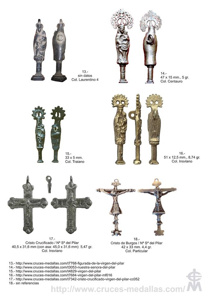 Iconografía de  la VIRGEN DEL  PILAR  en las medallas devocionales Pilar_12