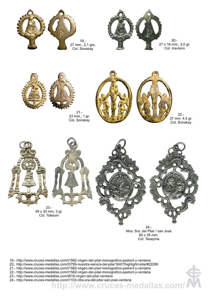 Iconografía de  la VIRGEN DEL  PILAR  en las medallas devocionales Pilar_13