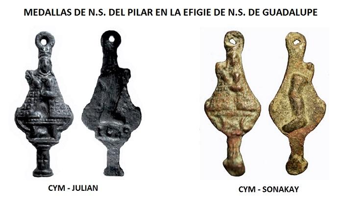 Iconografía de  la VIRGEN DEL  PILAR  en las medallas devocionales Pilar_14