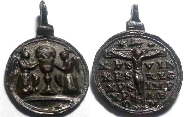 Santísimo Sacramento / Crucificado con oración S-XVII (R.M. SXVII-C64) Ss_ora10
