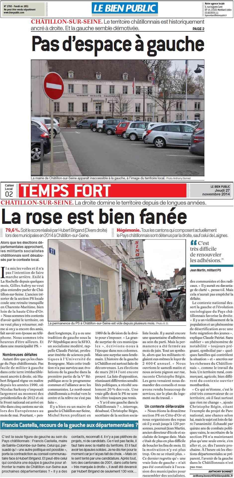 Châtillon-sur-Seine. Pas d'espace à gauche, la rose est bien fanée (Bien Public)  Pas_d_11