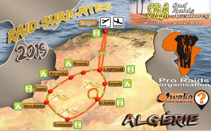 ALGERIE - Raid en Algérie  Parcou10