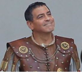 Hail Caesar filming in L A - George Clooney on the set Cesar211