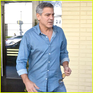 George Clooney and his friend Grant Heslov leaving The Palms restaurant in Beverly Hills… New10