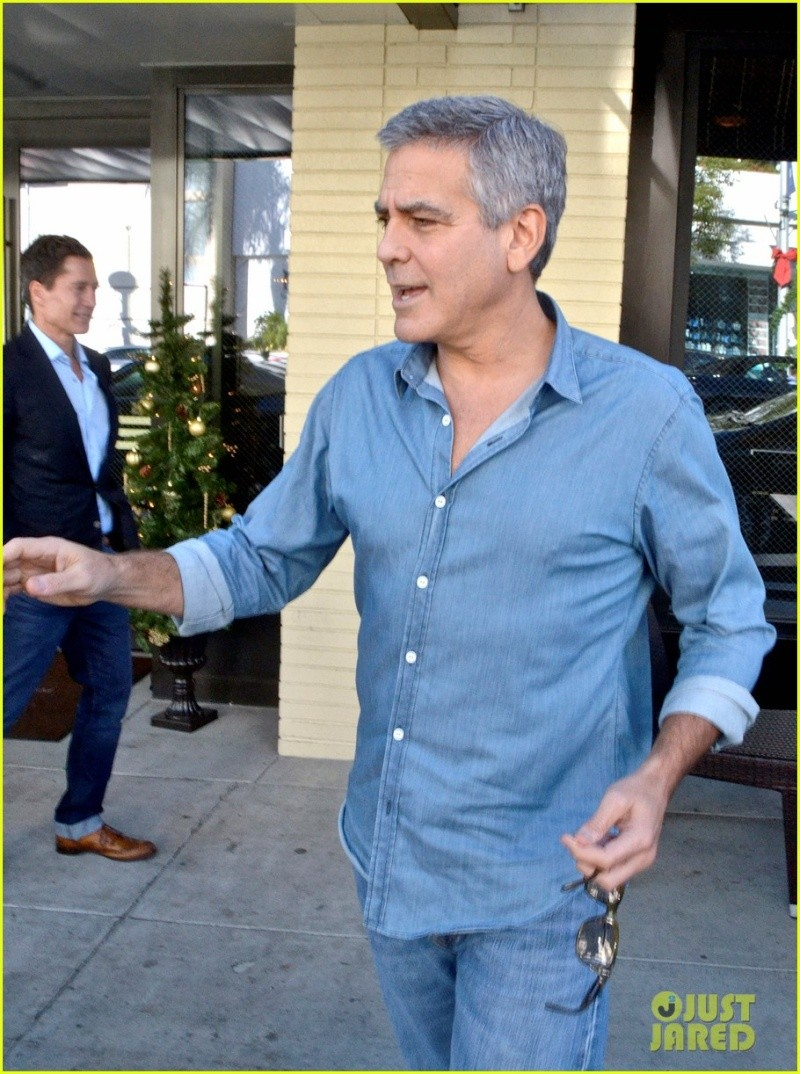 George Clooney and his friend Grant Heslov leaving The Palms restaurant in Beverly Hills… New510