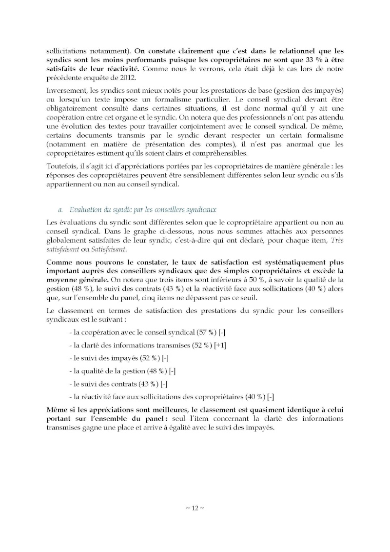 10nov 2014 - Evaluation enquête qualité Syndic Barome22
