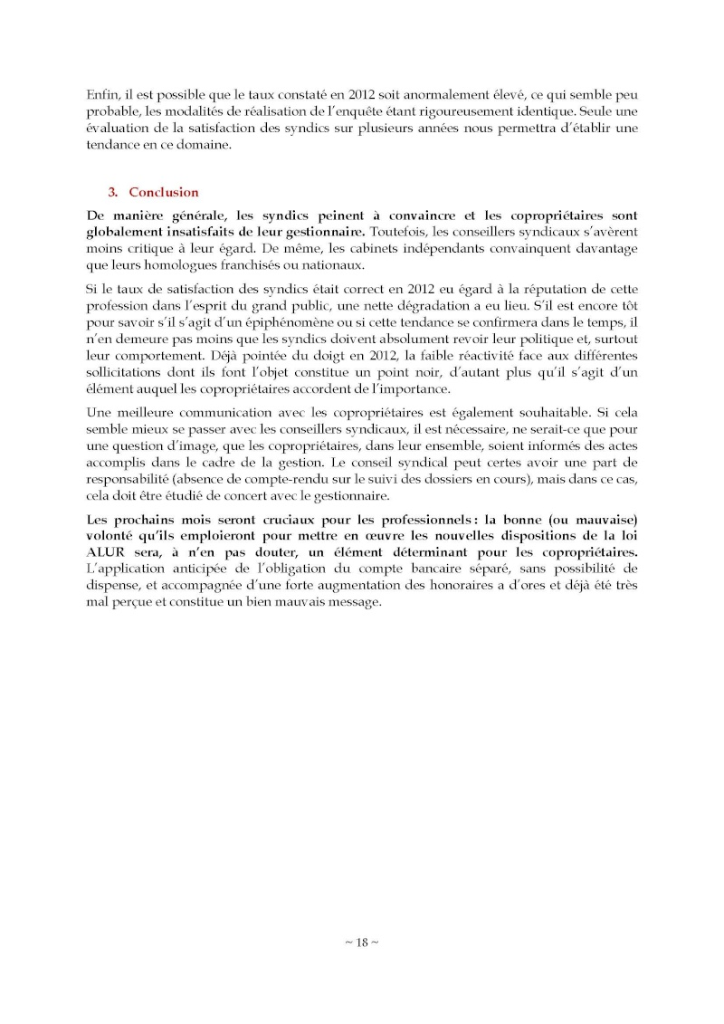 10nov 2014 - Evaluation enquête qualité Syndic Barome28
