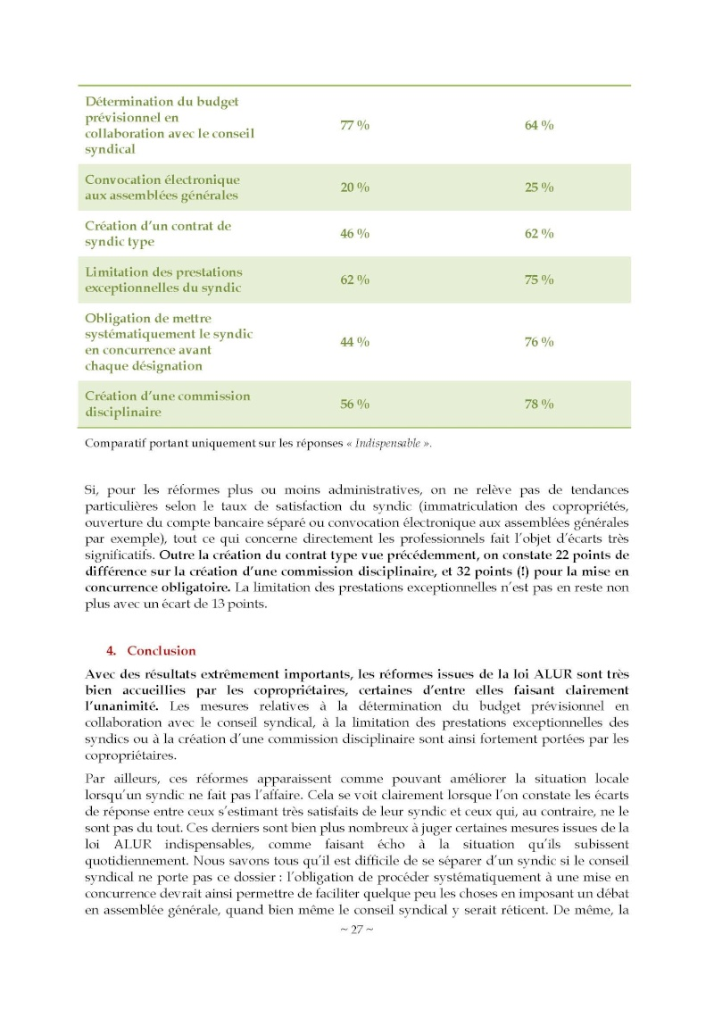 10nov 2014 - Evaluation enquête qualité Syndic Barome39