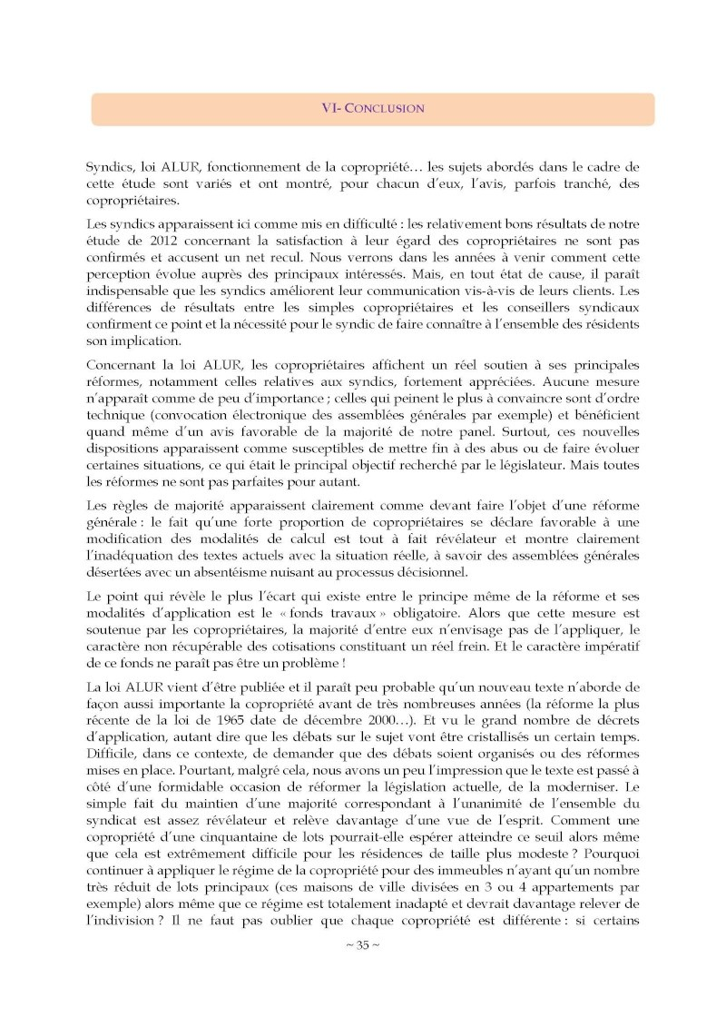 10nov 2014 - Evaluation enquête qualité Syndic Barome47