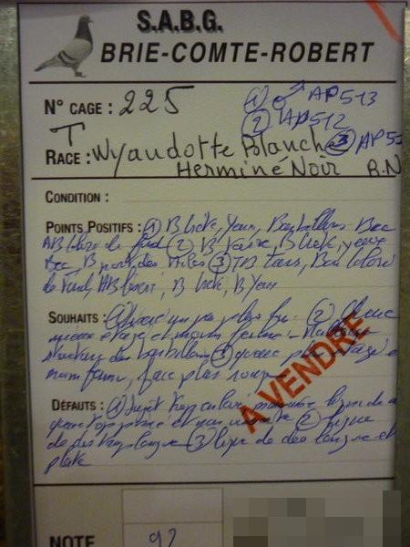 EXPOSITION D AVICULTURE 8 ET 9 NOVEMBRE 2014 BRIE COMTE ROBERT 77 - Page 2 Bcr20142