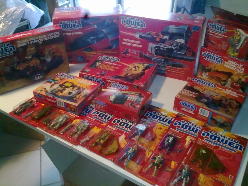 Captain Power Capitan Power intera collezione pezzi rarissimi tutti MISB fondi di magazzino con pezzi esclusivi americani introvabili! 27102011