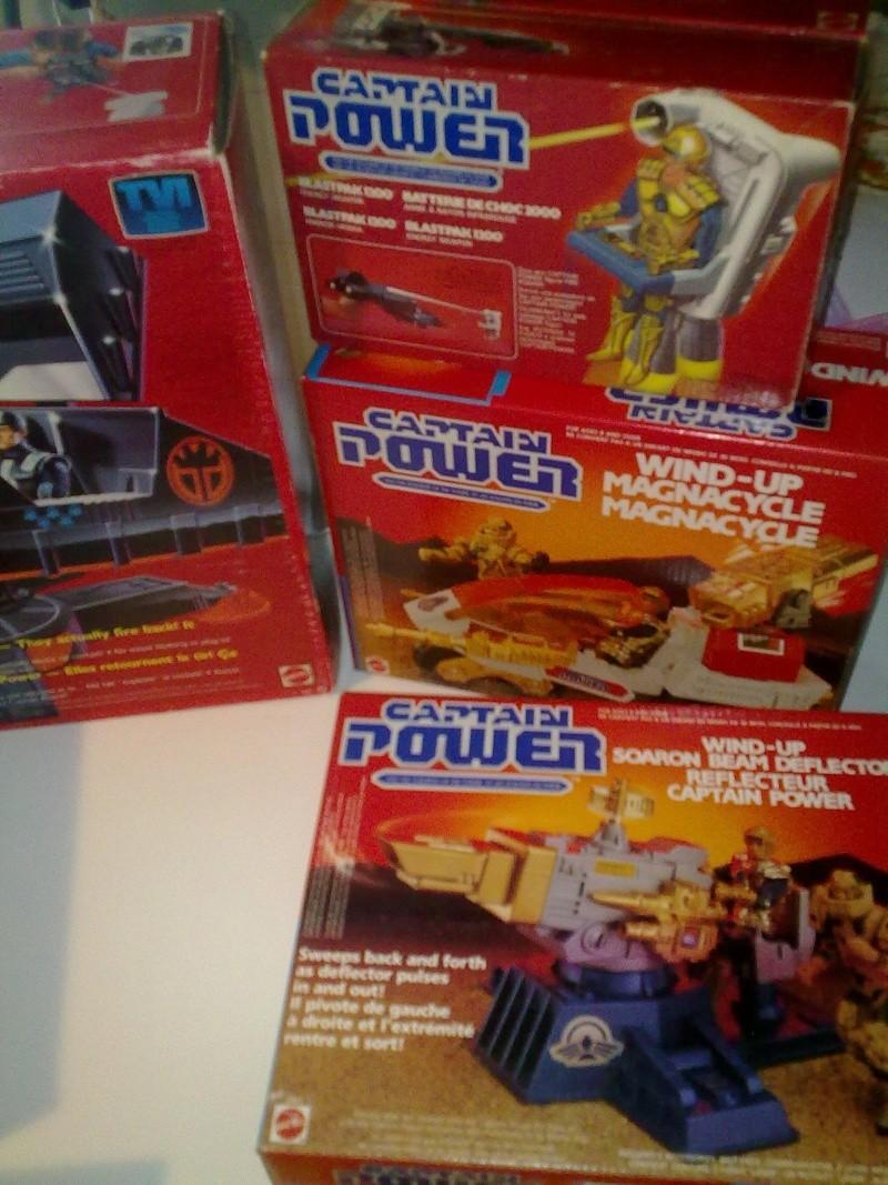 Captain Power Capitan Power intera collezione pezzi rarissimi tutti MISB fondi di magazzino con pezzi esclusivi americani introvabili! 27102013