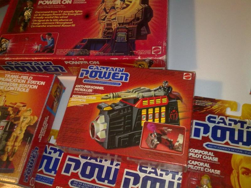 Captain Power Capitan Power intera collezione pezzi rarissimi tutti MISB fondi di magazzino con pezzi esclusivi americani introvabili! 27102014