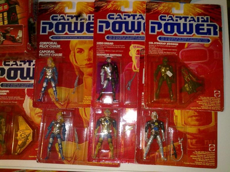 Captain Power Capitan Power intera collezione pezzi rarissimi tutti MISB fondi di magazzino con pezzi esclusivi americani introvabili! 27102016