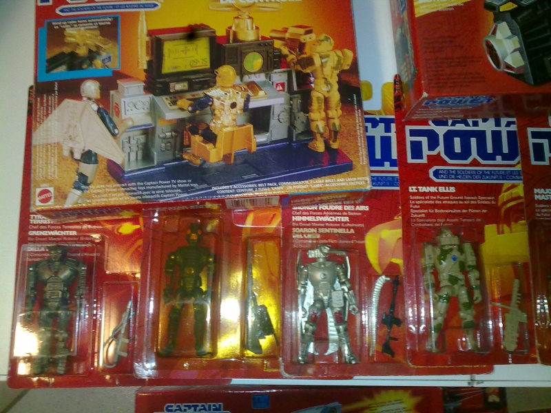 Captain Power Capitan Power intera collezione pezzi rarissimi tutti MISB fondi di magazzino con pezzi esclusivi americani introvabili! 27102017