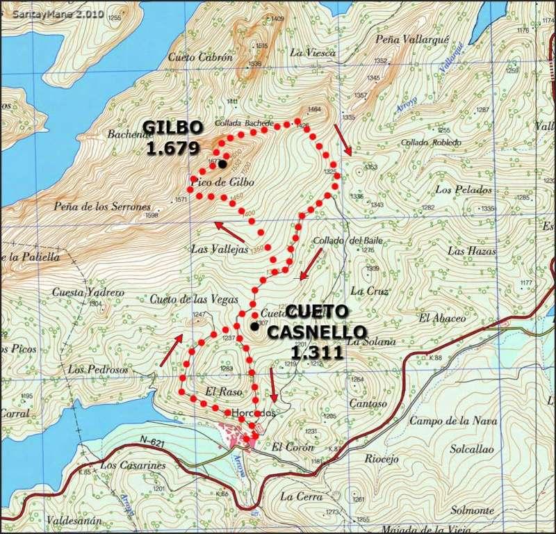 Alpinismo: finales de diciembre de 2014 - Ascensión al Gilbo, el Cervino leonés [CANCELADA] Mapa_g10