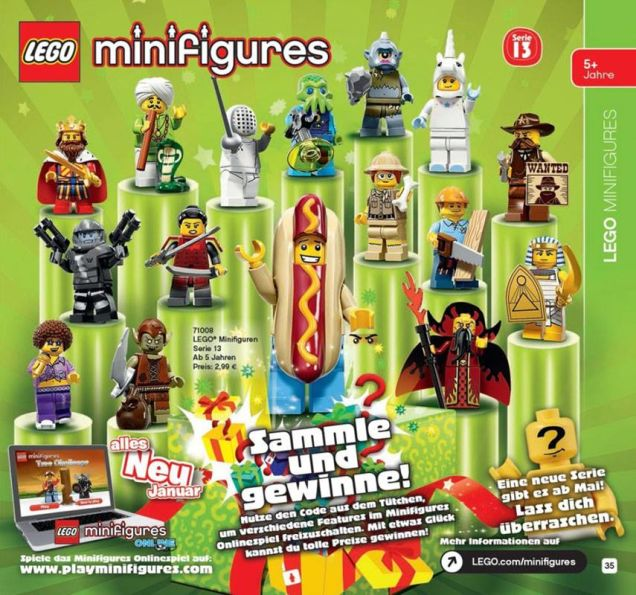 LEGO Minifigure Series 13 Confirmed! Jxnby910