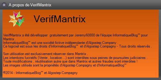 [PAUSE][Mantrix] VerifMantrix 1.0 [40%] 2014-113