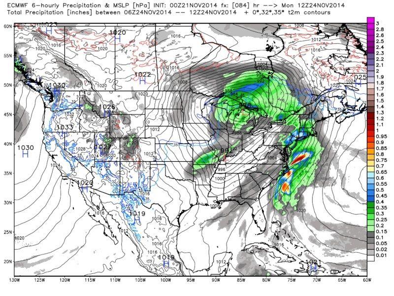 Thanksgiving Week Forecast Ecmwf_11