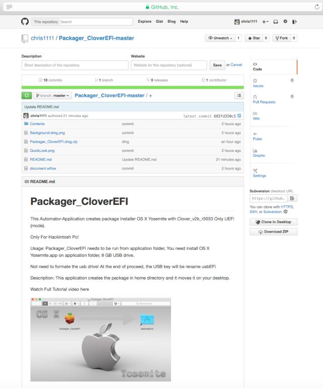 Packager CloverEFI Git12