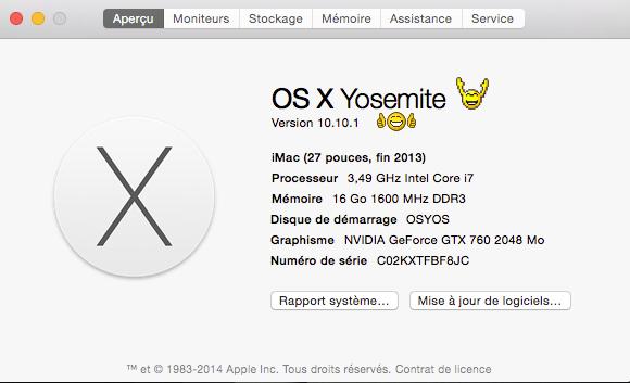 Intallation de la mise à jour 10.10.1 et iOS 8.1.1 Up10