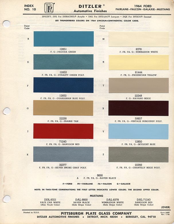 Couleurs Ford 1964 - 1973 1964_f10