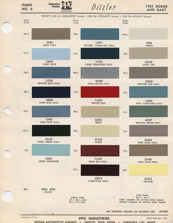 Couleurs Dodge 1965 - 1973 1965_d10