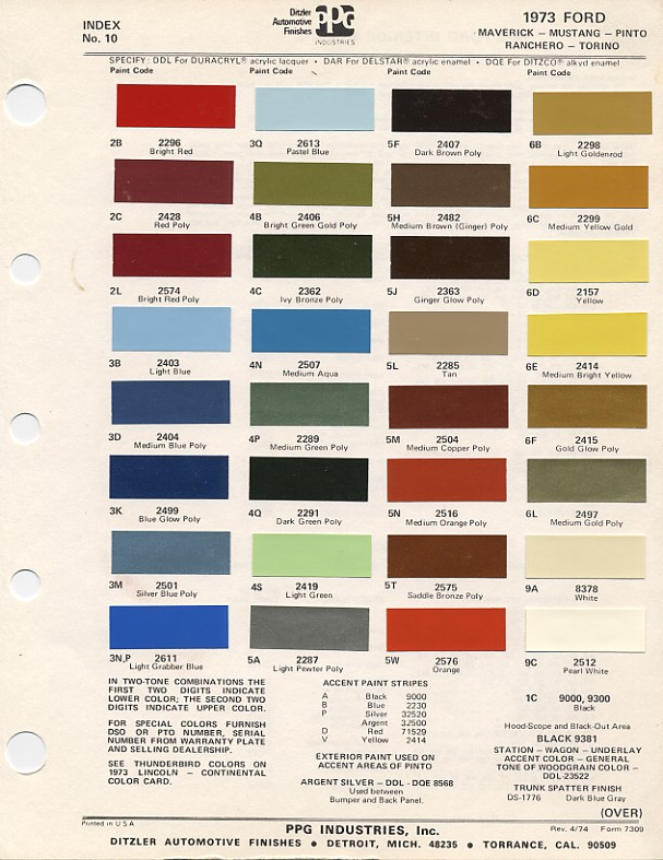 Couleurs Ford 1964 - 1973 1973_f10