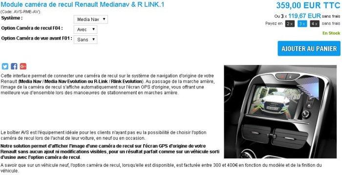 [Tuto] Installation module de caméra de recul sur R-LINK 1 Module10