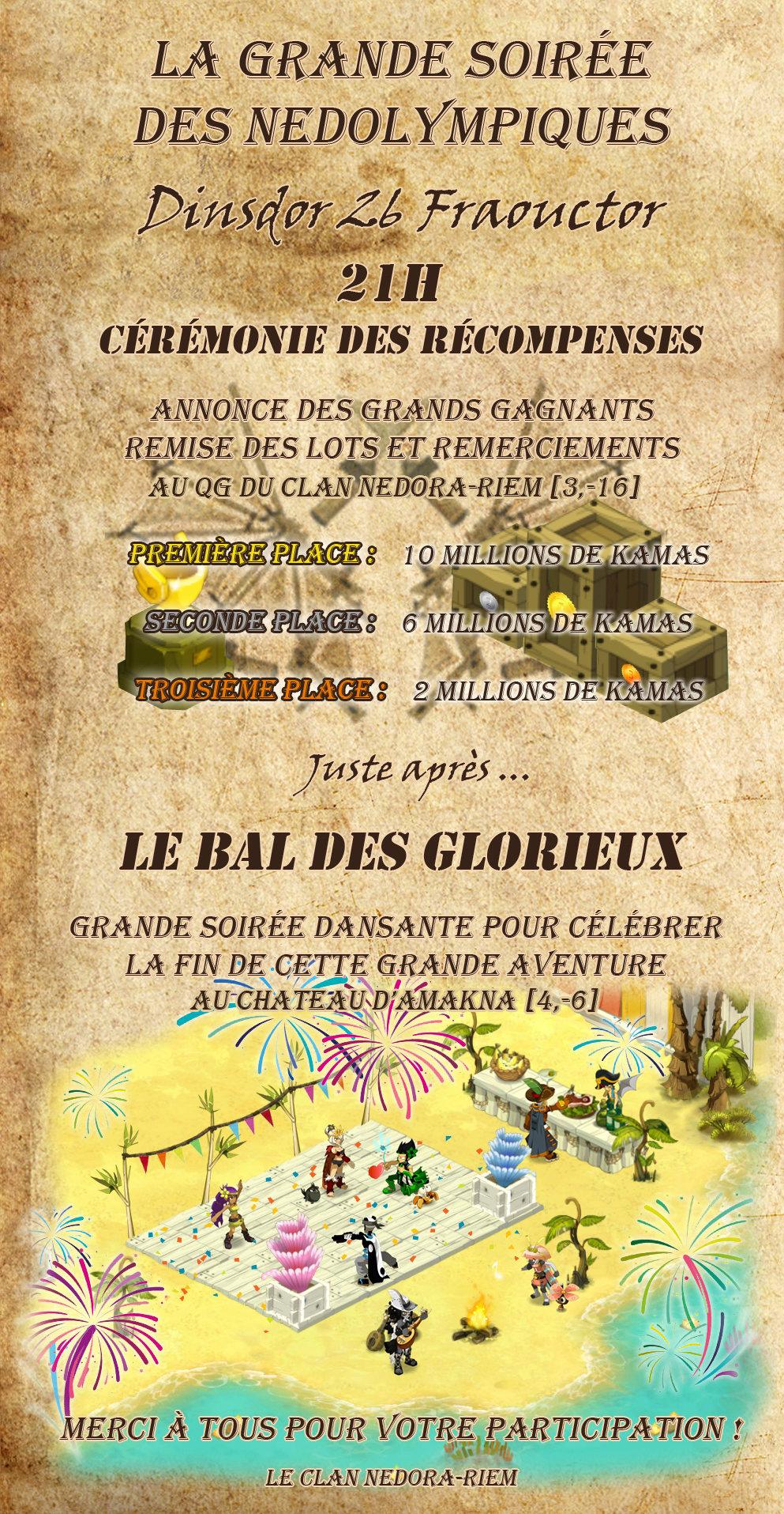 [Nedolympiques 648 - 26/08/648] Cérémonie de clôture des Nedolympiques & Le bal des glorieux Clotur12